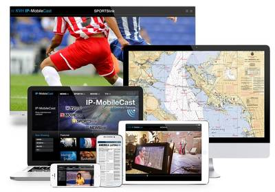 IP-MobileCast on Various Devices Image KVH