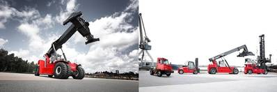 Kalmar Essential Reachstacker and Kalmar Essential range and TL2. Photo: Kalmar
