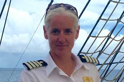 Kathryn Whittaker is the new captain of Sea Cloud II (Photo: Sea Cloud Cruises)