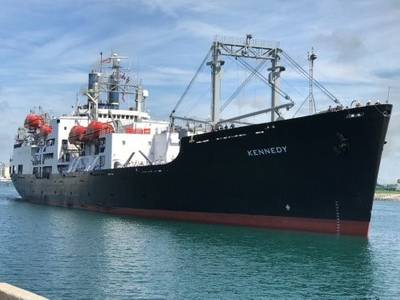 TS Kennedy arrives at Port Canaveral (Photo: Canaveral Port Authority)