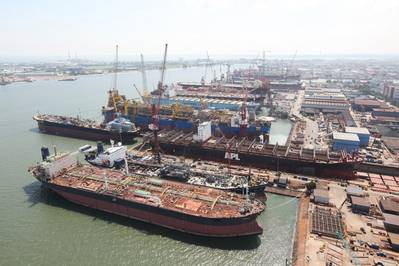 Keppel Shipyard Singapore: Photo credit Keppel