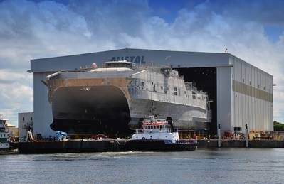 JHSV 3 Launch: Photo credit Austal