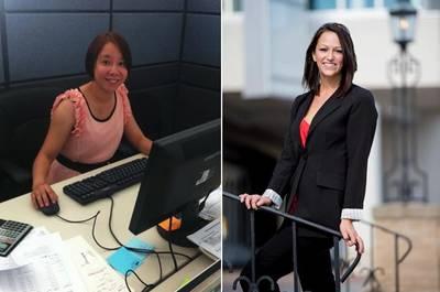 Zhao Xie (left) and Lauren Dolan