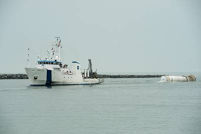 MV Liberty Star was one of two vessels used by NASA to recover the space shuttle's solid rocket boosters.