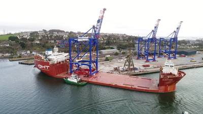 Liebherr prepares to ship three STS cranes to Puerto Rico (Photo: Crowley)
