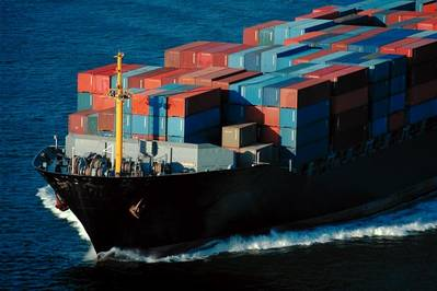 Marad Photo: fully loaded container ship at sea