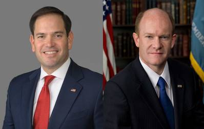 Marco Rubio and Chris Coons (official portraits)