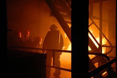 Maritme Fire-fighting Scene: Photo credit USN