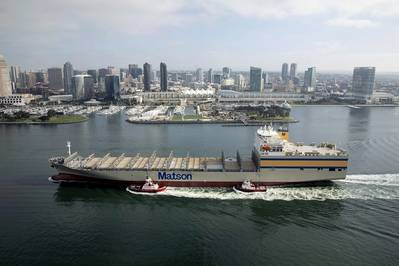 Matsonia (pictured) and sister ship Lurline are the largest vessels of their kind ever built in the U.S. (Photo: Matson)