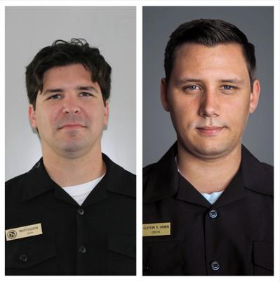 Matthew C. DuBon (left) and Clayton Riley Harbin (right). Photo Crowley Maritime Corp