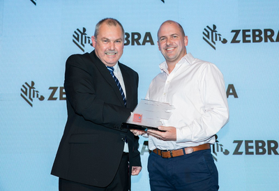 Neil McMaster, GAC Dubai's General Manager of Contract Logistics, receives the FMCG Supply Chain of the Year Award at a ceremony held at Grosvenor House Marina. (Picture courtesy of ITP Media Group)