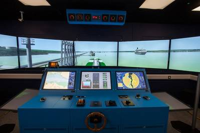 Milford Haven's simulator suite has the potential to put you at the helm of any marine vessel, in any port. (Photo: MPHA)