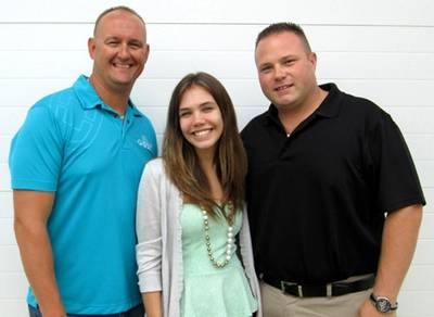 From left: Tony Miller, Samantha Thomas and Parrish Westbrook