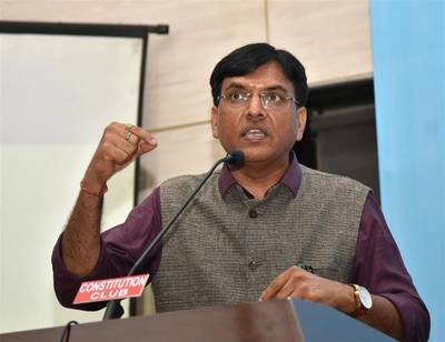 The Minister of State for Shipping (Independent Charge) Mansukh L. Mandaviya. Photo: PIB, Govt of India.