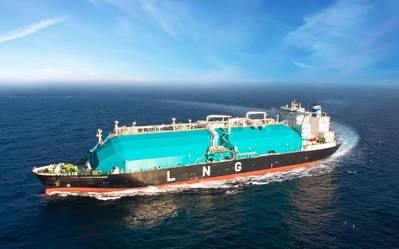One of MISC's LNG carriers at sea (CREDIT: MISC)
