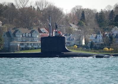 USS Mississippi in River Thames: Photo credit USN
