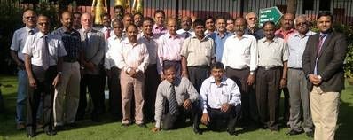The participants of the Chennai training session with Chirag Bahri, MPHRP Regional Director for South Asia, far right.