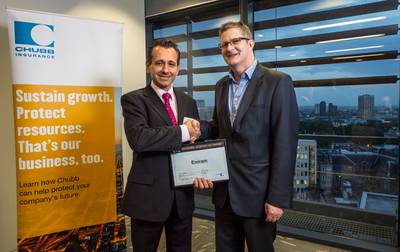 Peter Christovic, VP Operations, Eniram, received the award in London.