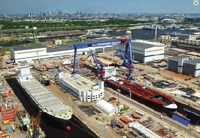 Aker Philadelphia Shipyard: Photo courtesy of APSI