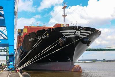 Photo of MCS Gayane moored in Philadelphia after CBP's record cocaine seizure.On June 17, the CBP and Homeland Security Investigations (HSI) led multi-agency team detected anomalies in seven shipping containers and extracted 39,525 pounds of cocaine. The cocaine has a street value of about $1.3 billion. CREDIT: US CBP