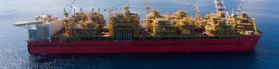 Prelude floating liquefied natural gas facility (producing LNG, LPG and condensate). Photo: Shell