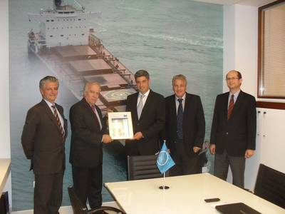 Presentation of the 1,000th certificate : Image credit FutureShip
