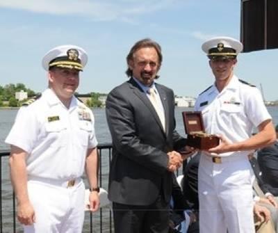 Presentation of Navigation Award: Photo courtesy of Northrop Grumman Corp.