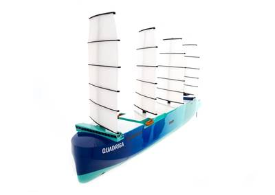 Quadriga project ship model (Photo: Lloyd's Register)