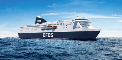 Once refurbished, this is what DFDS new ferries on the Amsterdam – Newcastle route will look like when they take up service at the beginning of 2020. Image: DFDS