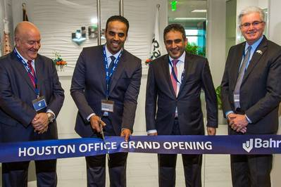 (L-R) Ricky Kunz, Chief Commercial Officer, Port of Houston Authority; Eng. Ibrahim Al-Omar, Group CEO, Bahri; Sultan Al Angari, Consul General of Saudi Arabia in Houston; and Steven Blowers, Country Manager, Bahri Logistics (America) (Photo: Bahri)