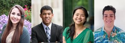 Left to right: 2014-2015 Thomas B. Crowley, Sr. Scholarship Recipients Callie Hamilton, Joshua Banks, Irah Dizon and Jason Cisneros (Photo: Crowley)