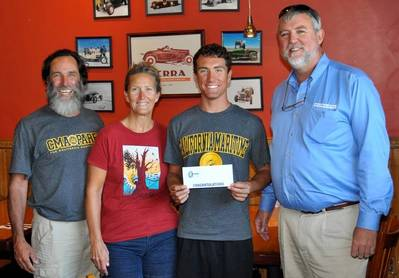 Left to right: David Luff, Cindy Luff, 2014 NMRA scholarship recipient Noah Luff and Keith LaMarr of Macaroni Marketing