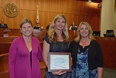 left to right: Port Director & CEO Kristin Decas, District 3 County of Ventura Supervisor Kelly Long, and Oxnard Harbor District Commissioner Mary Anne Rooney.  (Photo: Port of Hueneme)