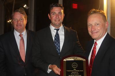 From left to right: SCA President Matthew Paxton with Rep. Hunter and newly-elected Chairman, Richard McCreary (Photo: SCA)