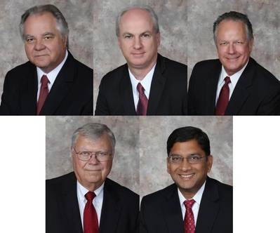 (From left to right) Top: Rick Zubic, Rob Mullins and Phil Adams. Bottom: Harry Bell and Pawan Agrawal.