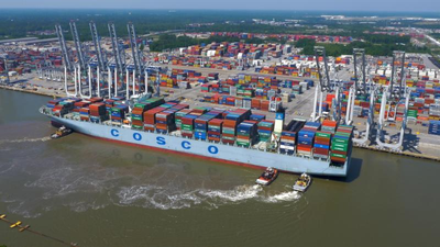 The Port of Savannah grew its volumes by more than 400,000 twenty-foot equivalent container units in 2017, for a record total of 4.04 million TEUs.  (Photo: GPA)