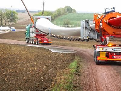 The RBTS from SCHEUERLE is easy to operate and also negotiates tight spaces with ease. Photo: Scheuerle