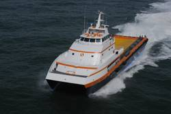 SEACOR Cheetah,170-foot catamaran delivered by Gulf Craft in March 2008.
