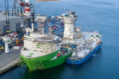 Second ship-to-ship LNG bunkering operation carried out in Germany and the first in the Port of Rostock (Source: Nauticor)