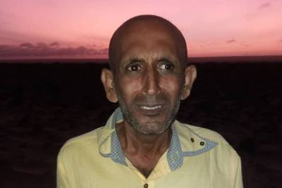 M Shariff from Iran was released after being held by Somali pirates (Photo: Hostage Support Partnership)