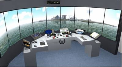 Mock up of the simulator complex. (Photo: Foss Maritime)