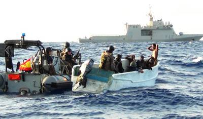 Somali pirates arrested: Photo courtesy of EUNAVFOR