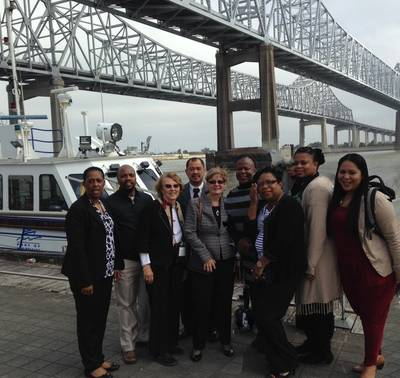 """South African dignitaries receive a briefing and tour of the Port of New Orleans in October 2015, part of the """"Maritime Education and Management"""" program. (Photo:  Port of New Orleans)"""