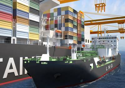 The specialized LNG Bunker vessel to be built at the STX Offshore & Shipbuilding Company yard in South Korea on behalf of Shell will be powered by Wärtsilä DF dual-fuel engines. (Pic by Wartsila)