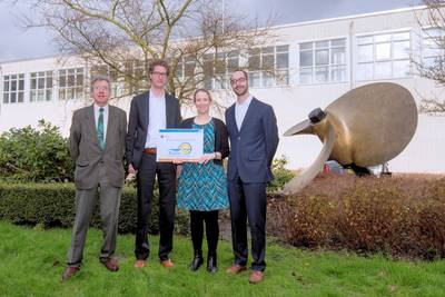 Prof. Stapersma MSc (TU Delft), Robert Hekkenberg MSc (Pamas committee), Elena Stroo-Moredo MSc (Training Manager), Peter de Vos MSc (TU Delft) - Copy right: Kees Opstal