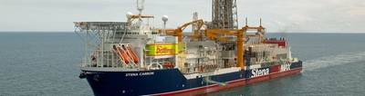 Stena Carron is the first drillship to receive the notation Drill(MPD) from DNV GL. Photo: DNV GL