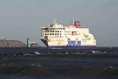 Stena Estrid于2020年1月进入都柏林港进行处女航。Stena自拍照