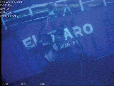 Stern of the El Faro (Photo:NTSB)