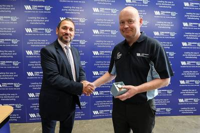 (left) Steve Schofield, Director and Chief Executive at the British Pump Manufacturers Association (BPMA), (right) Michael O'Hare, Workshop Manager  (Photo: Tomlinson Hall)