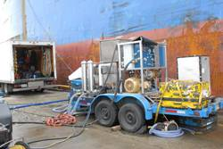 Subsea solution's Hull Cleaning machine.